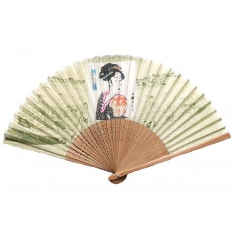 Wachlarz jedwabny Utamaro